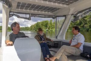 Drei Männer im Boot
