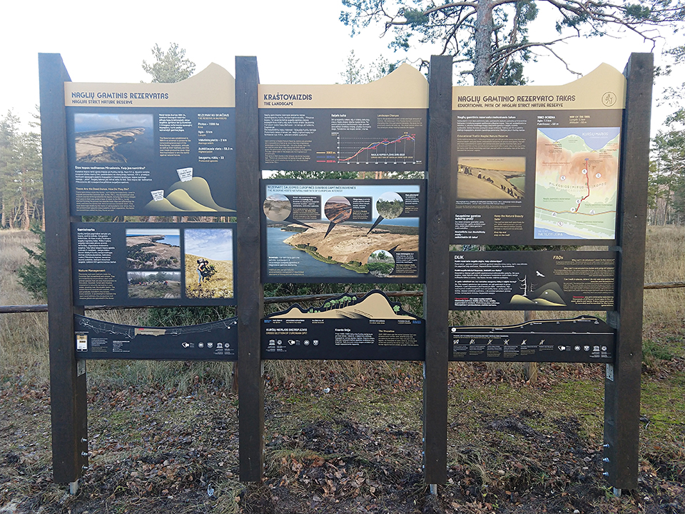 Curonian Spit Nationalpark Lithania Infoboards